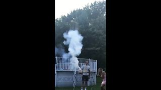 Gender Reveal Fireworks Fail Sends Partygoers Screaming And Running For Cover - Video