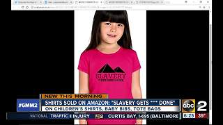 Amazon under fire for slavery shirts for kids - Video