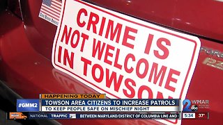 Towson Area Citizens On Patrol (TACOP) Increases Patrols for Mischief Night - Video
