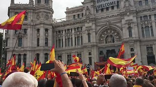 People Rally for Spanish Unity in Madrid Ahead of Catalan Vote - Video
