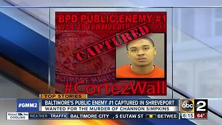 Baltimore's Public Enemy #1 captured in Shreveport, LA - Video