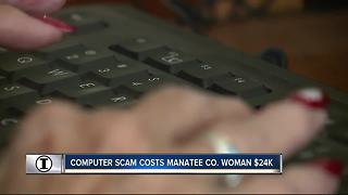 Computer scam costs Manatee Co. woman $24K | WFTS Investigative Report - Video