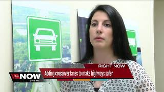 Adding crossover lanes to make highways safer - Video