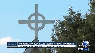 145-year-old Sedalia church gets needed TLC from its parishioners - Video