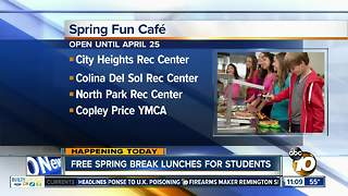 Free spring break lunches for students