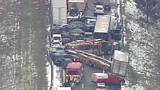 911 calls reporting the massive I-96 pileup near Fowlerville - Video
