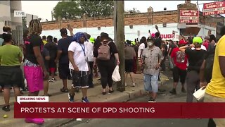 Protests at scene of DPD shooting