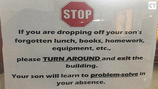 Parent Take Picture Of School Sign...Immediately Goes Viral - Video