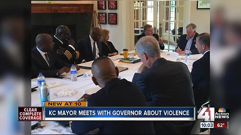 KCMO Mayor Lucas meets with governor, other mayors about violence