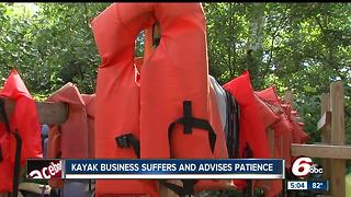 Kayak business suffers and advises patience - Video