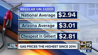 Gas prices high amid busy Memorial Day travel weekend
