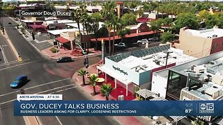 Governor Ducey talks to business leaders on loosening restrictions