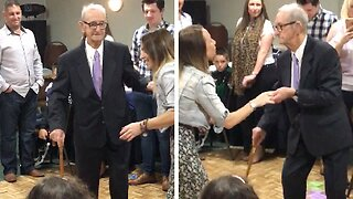 HAVOC AT THE DISCO! 100-YEAR-OLD MAN WOWS CROWDS WITH HIS INCREDIBLE DANCING AT HIS 100th BIRTHDAY PARTY