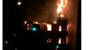 Woolloongabba's Broadway Hotel Goes Up in Flames
