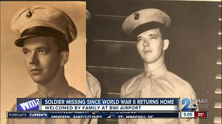 Soldier missing since World War II returns home