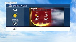 20 degrees warmer Tuesday; nice weather for Halloween