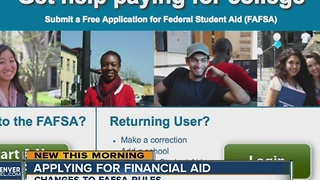 College bound students can apply for FAFSA now - Video