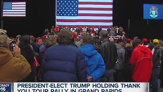 Trump rally in Grand Rapids - Video