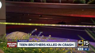 Teen brothers killed in Phoenix crash - Video
