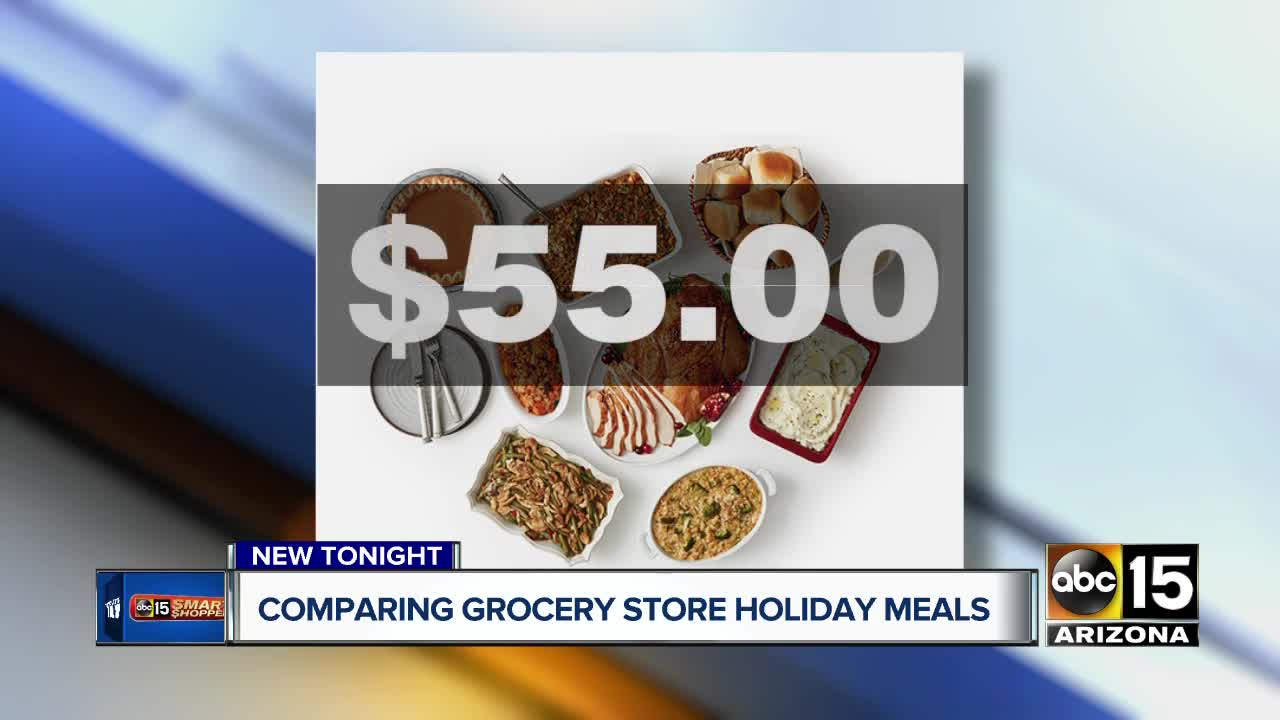 Comparing grocery stores' premade turkey dinners
