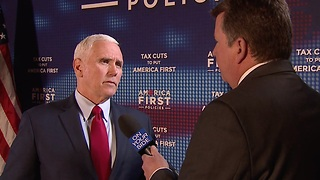 News 5 Exclusive: Vice President Mike Pence talks tax cuts, North Korea and tariffs with John Kosich - Video