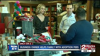 Local business owner helps family with private adoption
