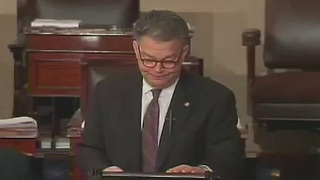 Franken cries on Senate Floor - Video