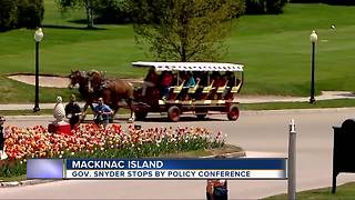 Governor Snyder stops by Mackinac policy conference - Video