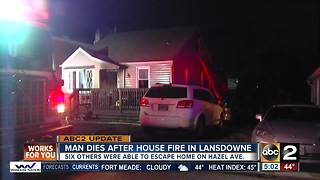 Man dies after being rescued from house fire in Baltimore Co. - Video