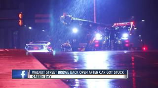 Walnut street bridge closed this morning - Video
