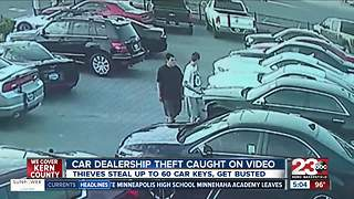 Two teens caught after stealing car, keys from Delano Family Auto - Video