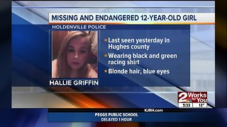 Police searching for missing Holdenville 12-year-old