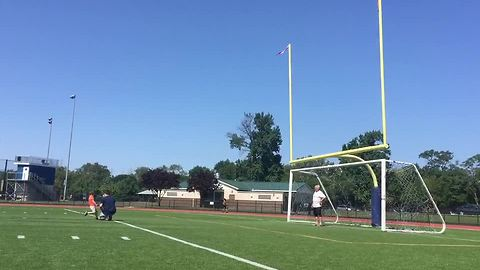 4-year-old drills 10 yard field goal