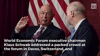 Davos Leader Praises President Trump's 'Strong Leadership' During World Economic Forum - Video