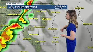 Possible thunderstorms Wednesday night
