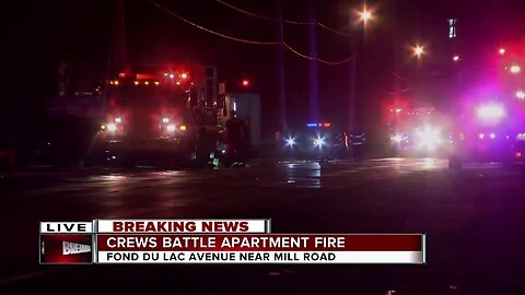 BREAKING: 1 person injured in apartment fire on Milwaukee's northwest side