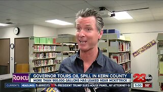 Governor Newsom tours oil spill in Kern County