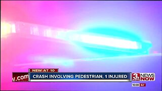 Crash involving pedestrian, one injured