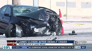 Deadly crash near Nellis and Lake Mead - Video
