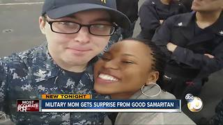 Military mom gets surprise from Good Samaritan - Video