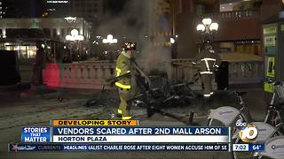 Vendors scared after 2nd mall arson - Video