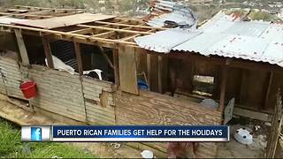 Puerto Rican families get help for the holidays following Hurricane Maria - Video