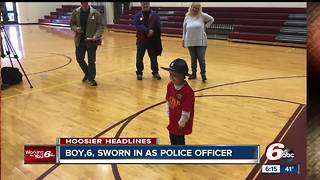 6-year-old boy who diagnosed with cancer for the third time sworn in as officer - Video