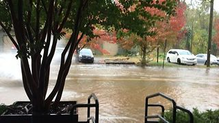 Flooding Clogs Asheville Roads - Video