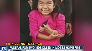 Funeral today for 2 children killed in Escondido mobile home fire - Video