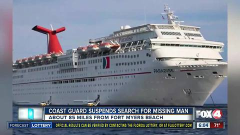 Coast Guard suspends search for missing cruise ship passenger off Fort Myers