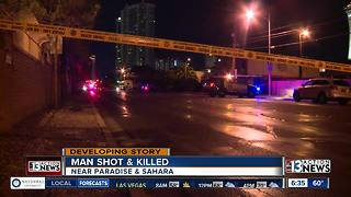 Man found shot on sidewalk Sunday night - Video