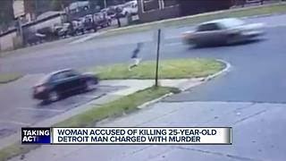 Woman accused of killing 25-year-old Detroit man charged with murder - Video