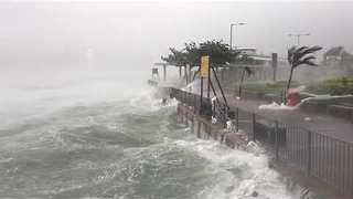 Waves Batter Coast as Typhoon Hato Sweeps Through Hong Kong - Video