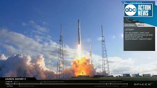 SpaceX launches satellite on used Falcon 9 rocket